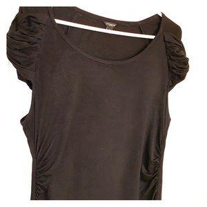 Ann Taylor dressy black top L